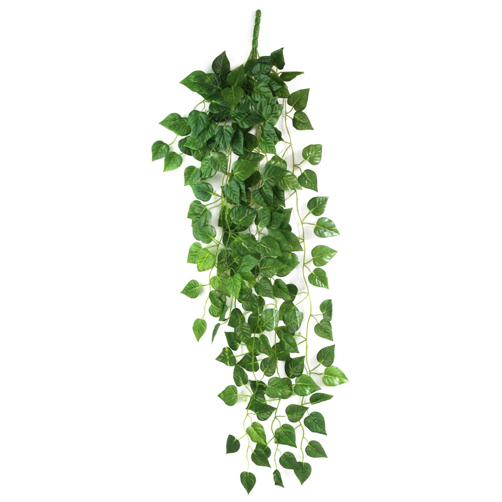 Amazon Atificial Fake Hanging Vine Plant Leaves Garland Home Garden Wall Decoration Kitchen