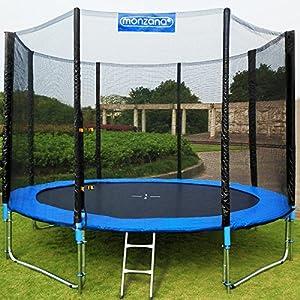 Trampolin Kindertrampolin Garten Set 366 cm + Netz Plane Zubehör TÜV SÜD GS