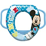 Disney Baby Mickey Mouse Soft Padded Toilet Training Seat with handles