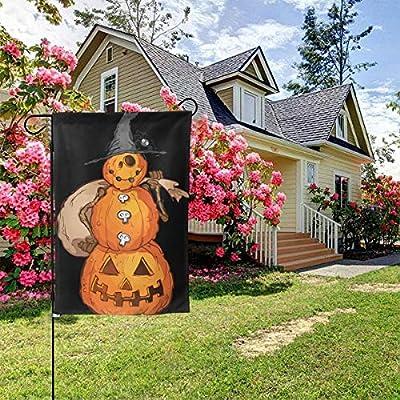 Pancarta con diseño de calabaza y espantapájaros de doble cara, para jardín, celebración, jardín, patio, bandera, 31,75 x 45,72 cm: Amazon.es: Hogar
