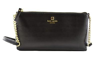 Kate Spade New York Weller Street Declan Leather Crossbody Bag Purse in  Black c81360ebb2