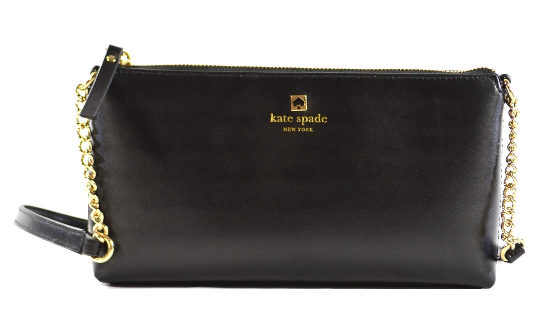 Kate Spade New York Weller Street Declan Leather Crossbody Bag Purse in  Black 2929dd960b767