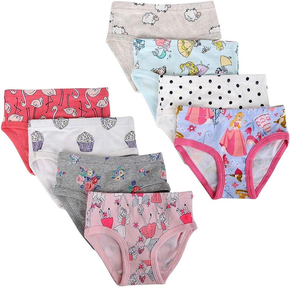 Kidear Kids Series Soft Cotton Baby Panties Little Girls Assorted Briefs Pack of 8