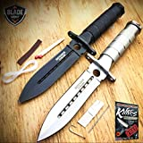 2 PC 8'' Tactical Fishing Hunting BLADE CAMPING Knife + Survival Kit + SHEATH NEW + free eBook by ProTactical'US