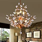 LED ceiling lamp modern simple American style ceiling lamp for living room bedroom Kitchen Kids Room ceiling lamp ceiling light,Lb copper colored Chandelier