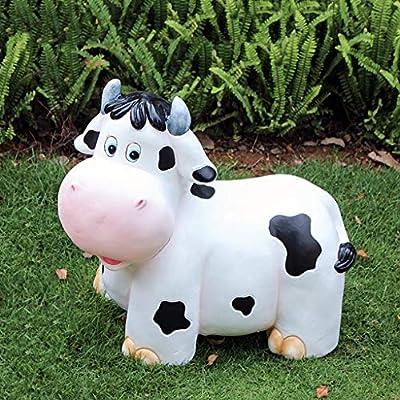 Esculturas Del Jardín Decoración De Jardín Estatua del Jardín Al Aire Libre Estatuas Estatuas del Jardín Vaca Decoración Jardín (Color : Blanco, Size : 49 * 29 * 45cm): Amazon.es: Hogar