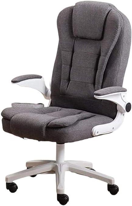 Fauteuil Bureau pivotant Chaise, Bureau Tissu gris