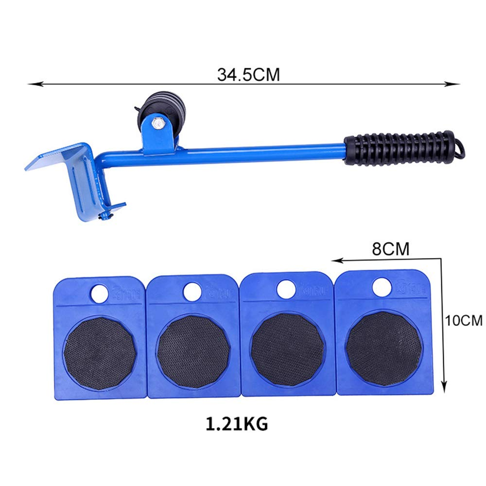 Furniture Lifter, Heavy Duty Sofas, Couches and Refrigerators Sliders Easy and Safe Moving, Appliance Roller 4 Sliders,Blue