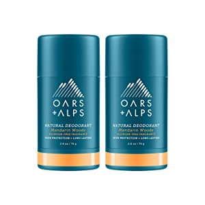 Oars + Alps Natural Deodorant, Aluminum Free, Vegan, Gluten Free, Cruelty free, Alcohol free, Travel Deodorant, Deodorant for Men and Women