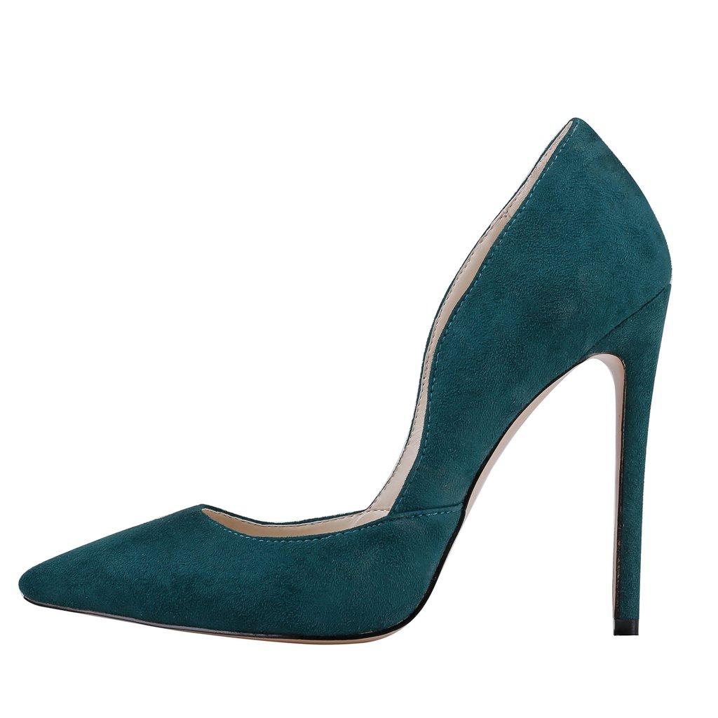 EKS - Zapatos de Tacón Mujer 43 EU|- Dark Gr¨1n-wildleder