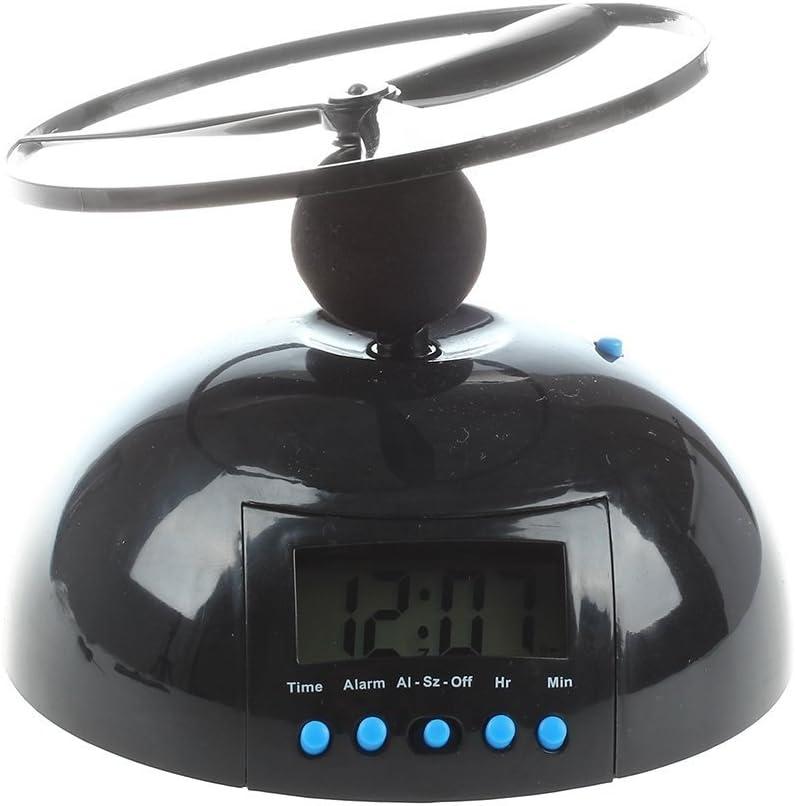SODIAL(R) Reloj despertador loco molestos volar helicoptero