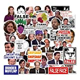 Office Stickers Pack of 50 Office LaptopThemed Stickers, The Office Stickers for Water Bottles, Funny Laptop Decals,