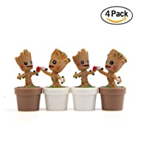 LB trading Indoor Ornaments Personalized FlowerPots Action Figures Cartoon Cute Model 4 pezzi