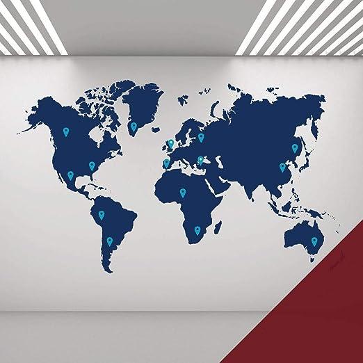 Wall Designer Grande Carte du Monde avec épingles - Sticker ...