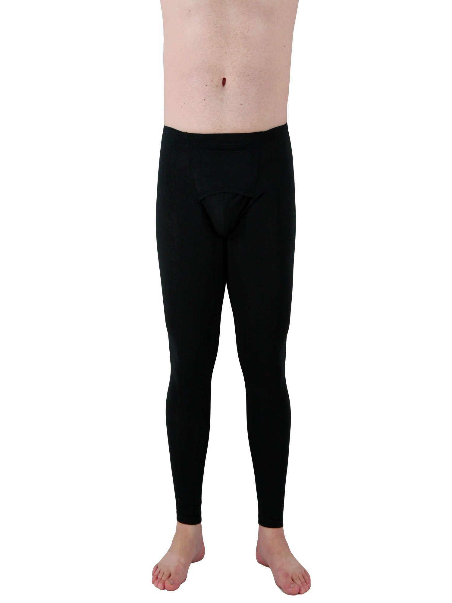 Underworks Cotton Spandex Ultra Light Compression Tights, Leggings, Base Layer 3X Black