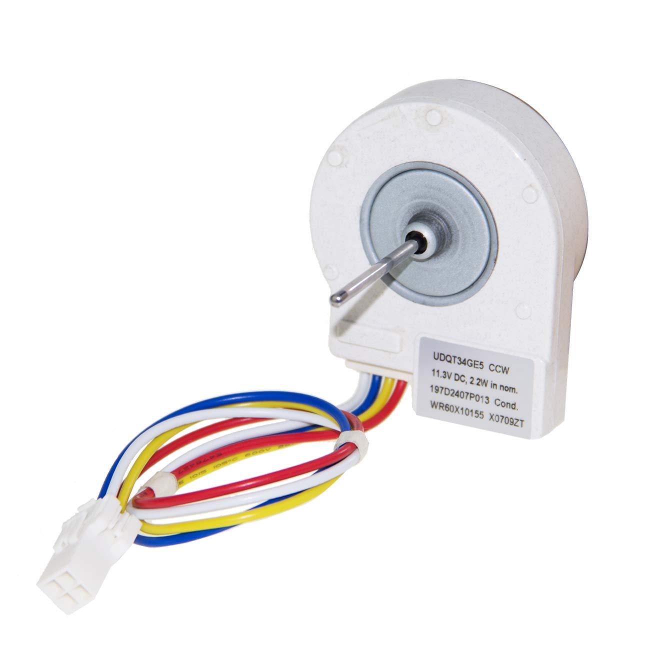 Condenser Fan Motor WR60X10209 for GE Refrigerator WR60X10209 WR60X10155 WR60X10042 12 Volt