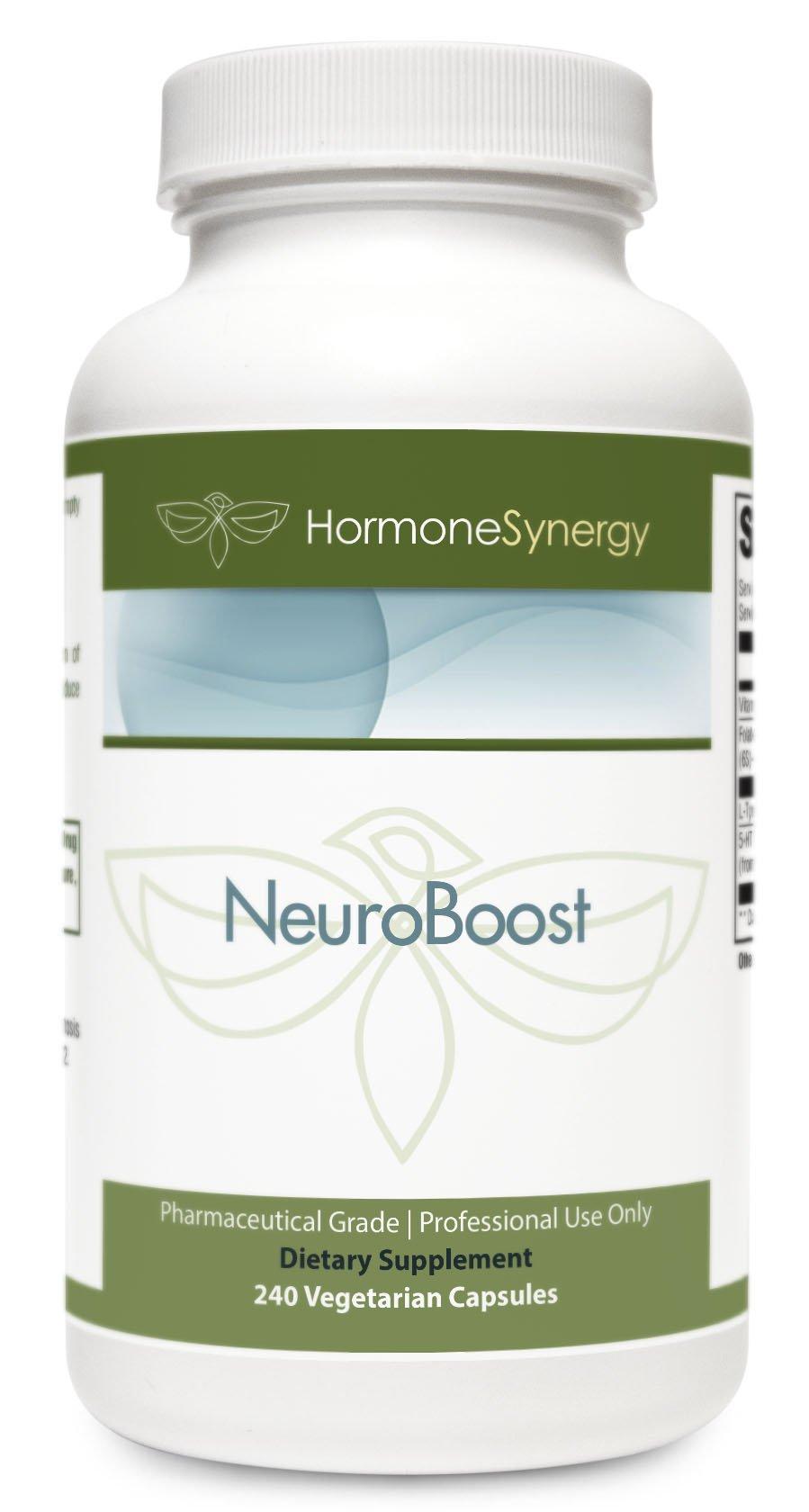 Neuro-Boost NeuroBoost   5-HTP 150 mg   Tyrosine 1.5 g   400 mcg Active Folate as Quatrefolic w/Vitamin B6   Essential Amino Acids