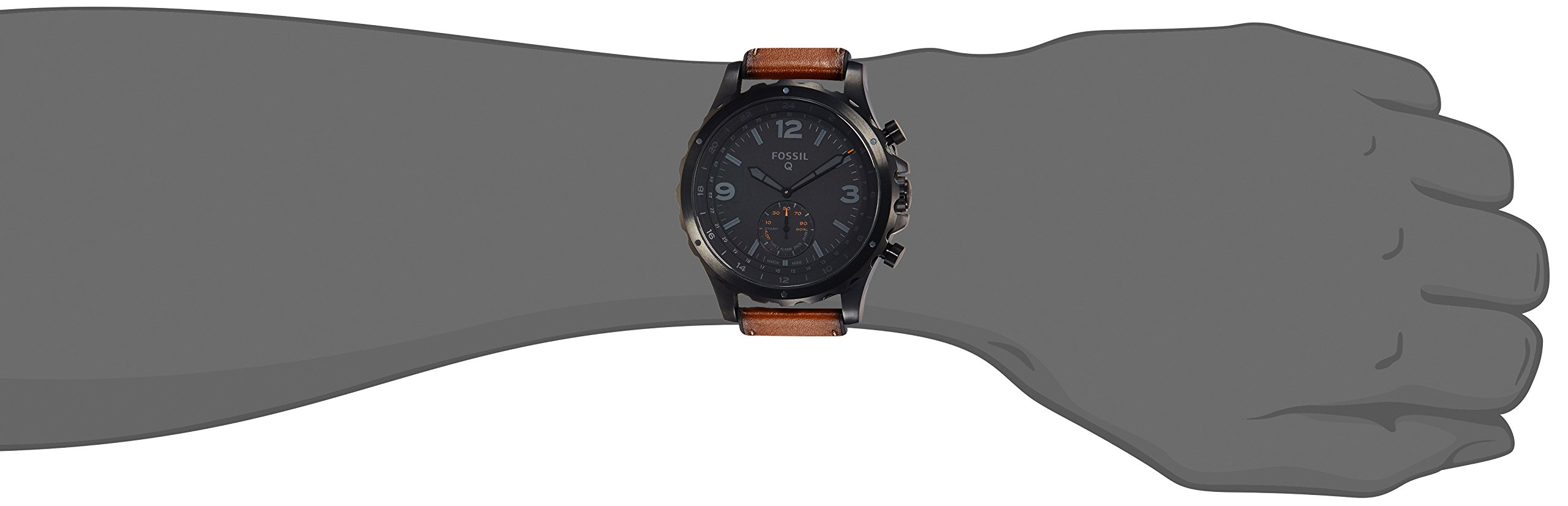 Fossil Hybrid Smartwatch - Q Nate Dark Brown Leather by Fossil (Image #3)