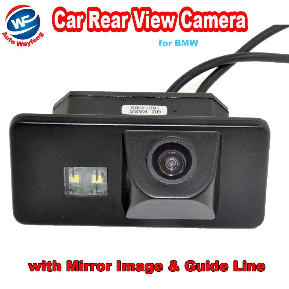 Auto wayfeng WF® coche copia de seguridad cámara de visión trasera para coche cámara de marcha atrás para BMW 1/3/5/6Series X6X5E39E81E87E90E91E92E60E61E70&nb