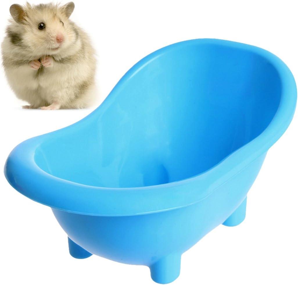 Legendog BañEra de HáMster, BañEra para Mascotas Mini BañEra para Mascotas Portátil Baño de Arena para Habitaciones de PláStico para Animales Pequeños