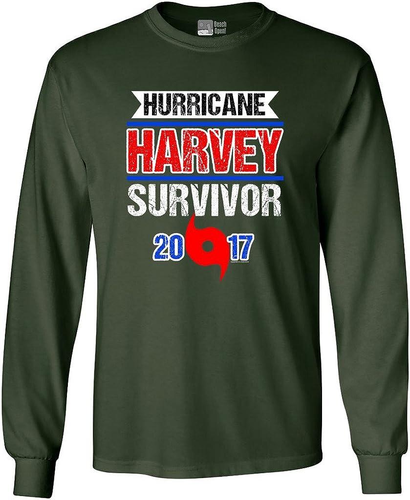Long Sleeve Adult T-Shirt Hurricane Harvey Survivor Cyclone 2017 Houston Texas DT
