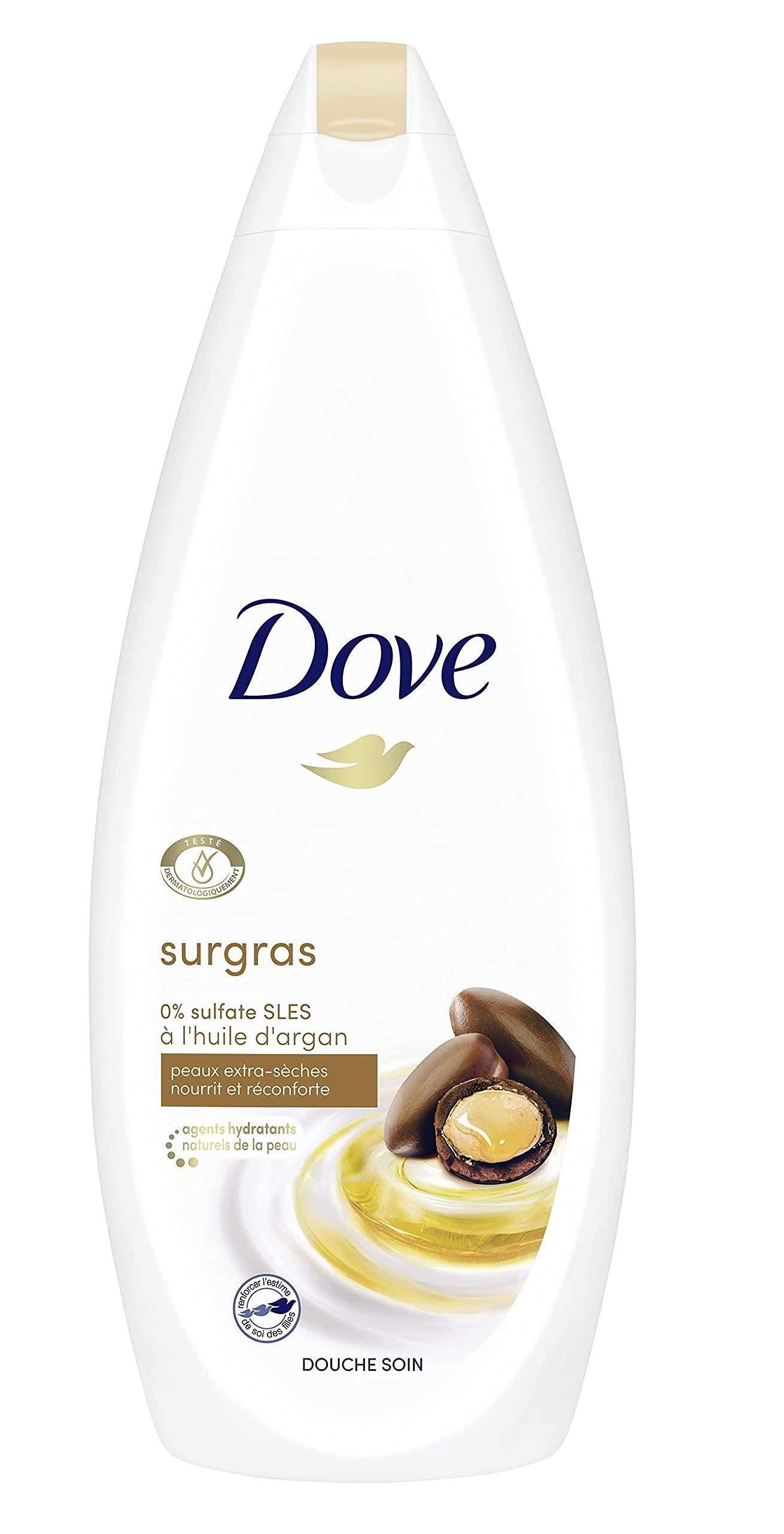 Dove Cuidado Óleo-Nutritivo Gel de Ducha para Piel Seca con Aceite de Argán 750 ml