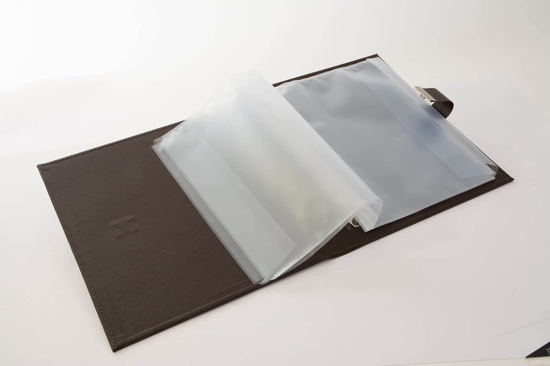 27,5 x 34 cm 53809 Inklusive 5 Sichth/üllen Cezanne Erweiterbar Kunstleder goldbuch Dokumentenmappe Dunkelgrau Mit Schloss