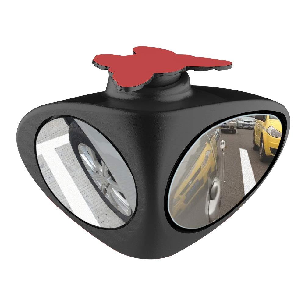 Specchietti per Angolo Morto,Grandangolare Regolabile Punto Cieco Specchio Retrovisore Aggiuntivo Auto HD Doppio Specchio Laterale Convesso Retrovisore Angolo Cieco,Destra