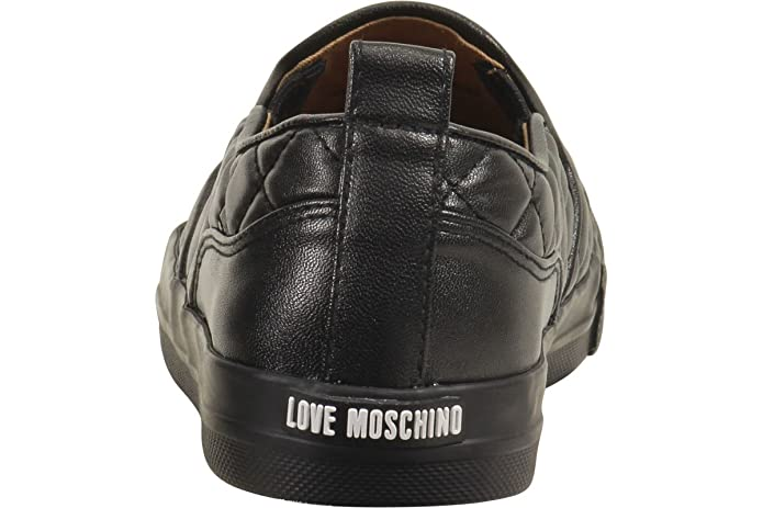 541f4be3a3c Amazon.com  Love Moschino Women s Quilted Metal Logo Black Loafers Shoes Sz   10  Shoes