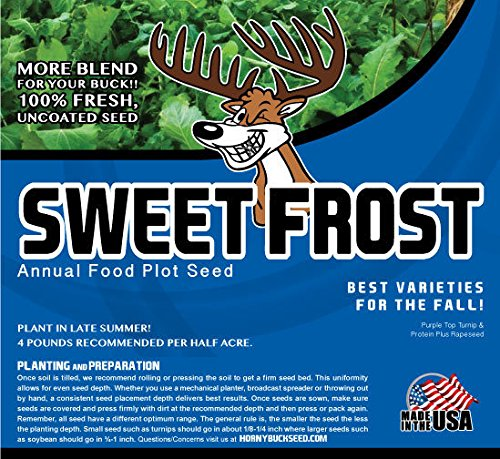 Sweet Frost - Horny Buck Food Plot Seed (4 pound bag plants 1/2 an acre)