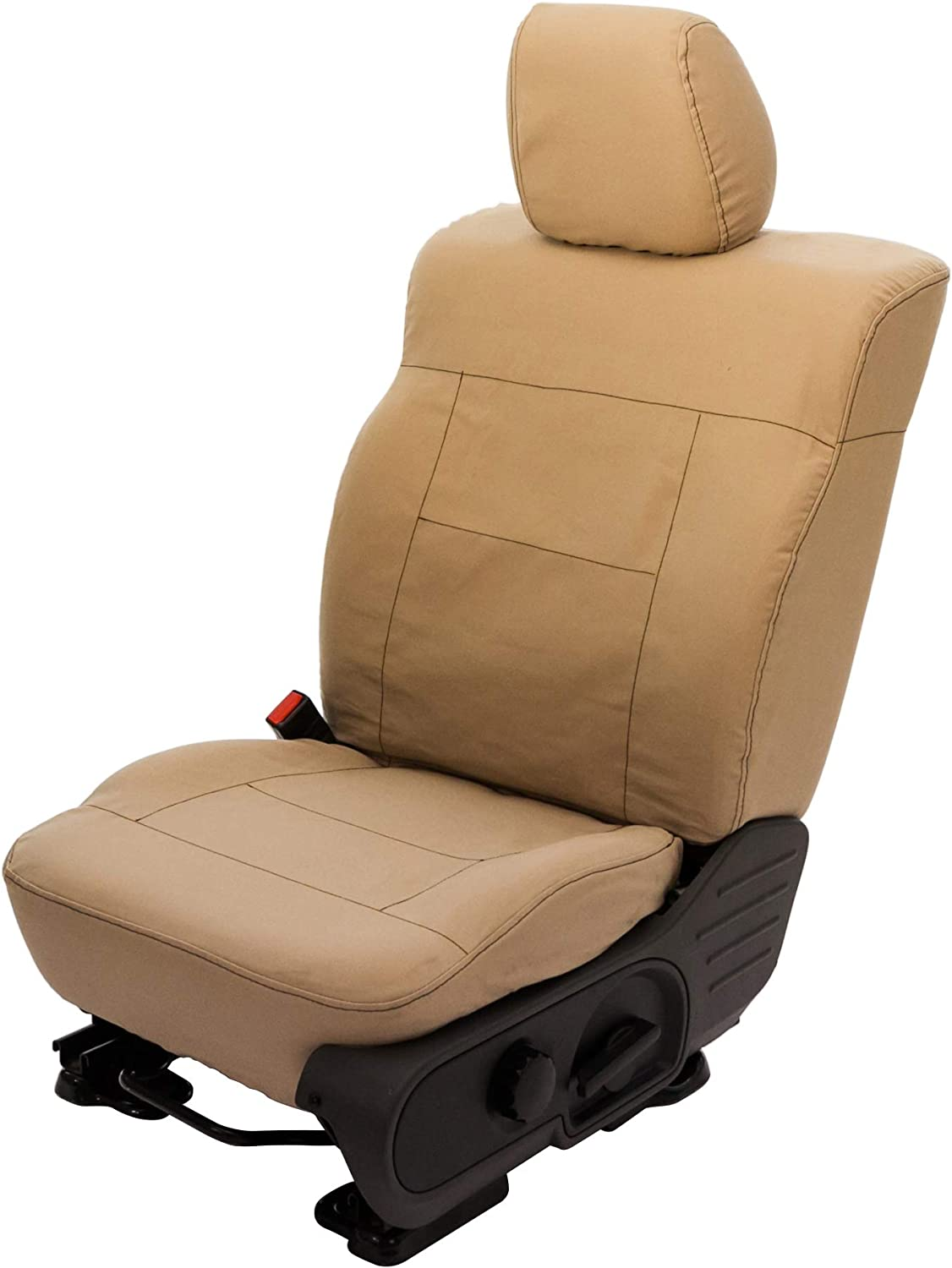 Saddleman S 049907-09 Tan Custom Made Front Low Back Bucket with Airbag Seat Covers