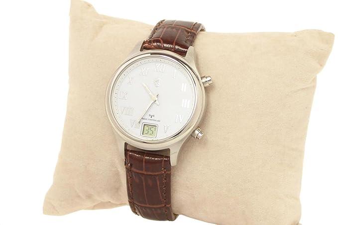 Reloj de Mujer auriol radiocámara - Diseño Elegante - correa de piel marrón: Amazon.es: Relojes