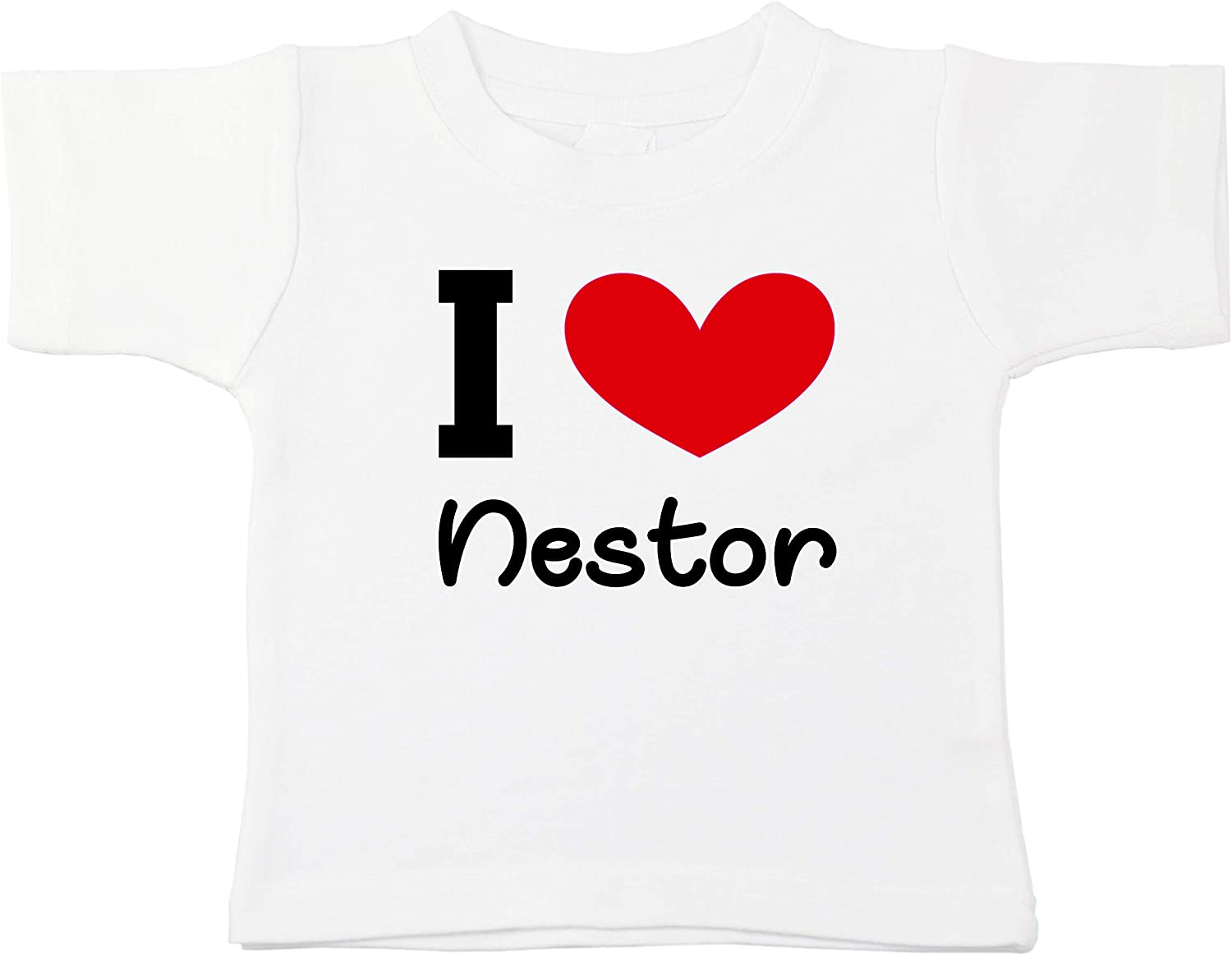 Kinacle I Love Nestor Personalized Baby//Toddler T-Shirt