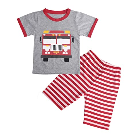 2PC Summer Toddler Kids Baby Boy T-shirt Tops Shorts Pants Outfits Clothes Set