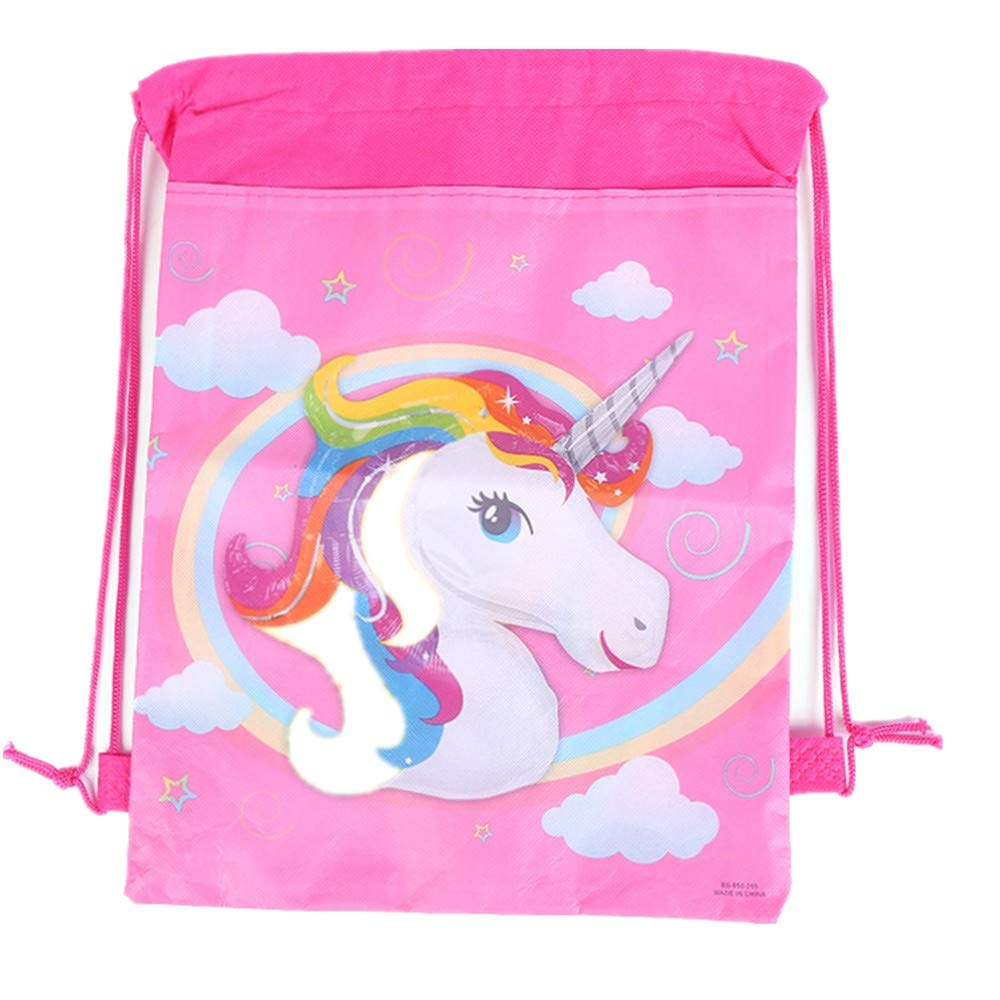 12 Pack Unicorn Gift Bags Halloween Candy Bags for Holiday Birthday Halloween Christmas New Year Drawstring Party Bag,10.6'' * 13.4'' (Pattern A) by EALUN (Image #2)