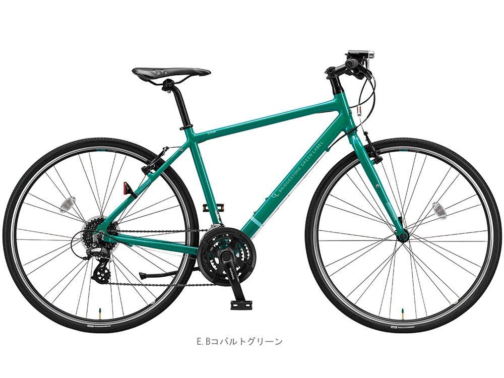 ブリヂストンサイクル(BS CYCLE) 17'シルヴァ F24(3x8s)クロスバイク EBコバルトグリーン 420mm 3519 B01N1UBJKG