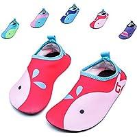 IH-TECH Kids Water Shoes Toddler Swim Shoes Quick Dry Non-Slip Barefoot Aqua Socks for Beach Pool