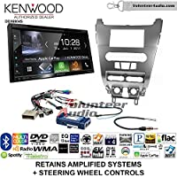 Volunteer Audio Kenwood Excelon DDX6904S Double Din Radio Install Kit with Satellite Bluetooth & HD Radio Fits 2008-2011 Focus (SWC)