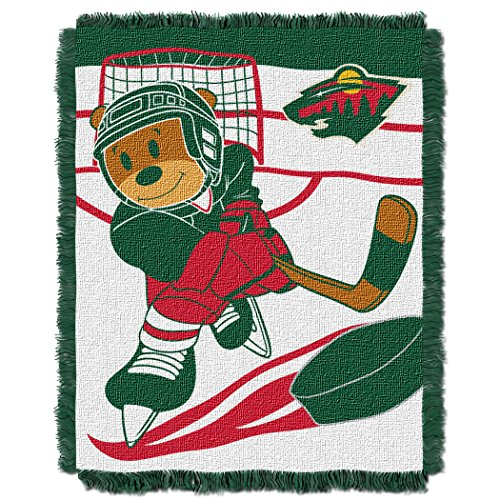 (The Northwest Company Officially Licensed NHL Minnesota Wild Score Woven Jacquard Baby Throw Blanket, 36