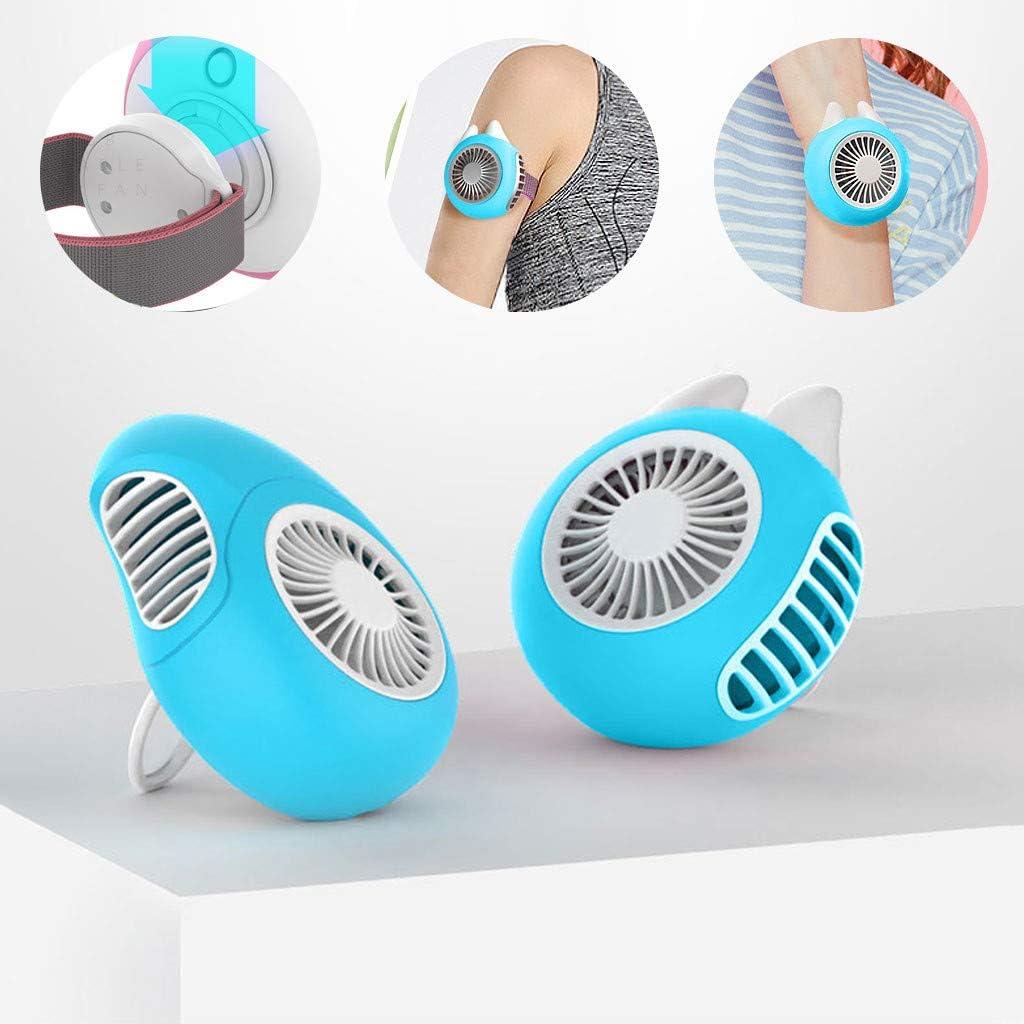 Atezch USB Recharging Mini Magnetic Suction Wrist Wearable Portable Small Turbine Fan