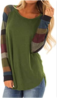 f75fabeba Tunics Womens Color Block Tunic Tops Long Sleeve Lightweight Sweatshirt T  Shirt with Kangaroo Pocket TOP-11