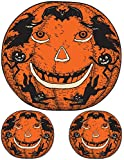 Kitchen & Housewares : Beistle Jack-O-Lantern Peel 'N Place for Halloween Party, 12-Inch by 17-Inch