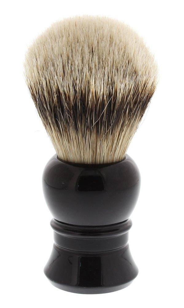 West Coast Shaving 100% Silvertip Quality Shaving Brush with Dense Knot. (Black-Lantern)