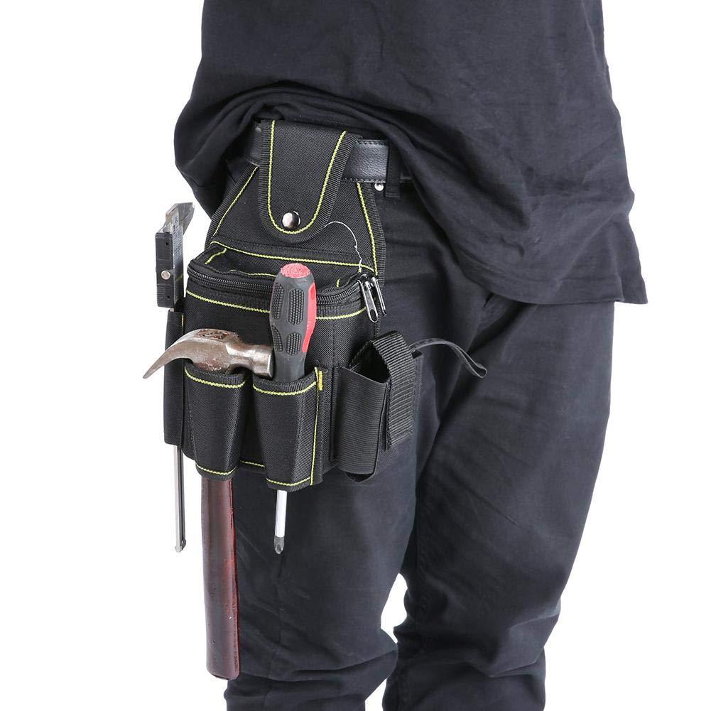 TOPINCN Custodia per Trapano Avvitatore a percussione Impermeabile Borsa per Attrezzi elettrica Multifunzione da Giardinaggio in Tessuto Oxford carpentieri falegnami giardinieri