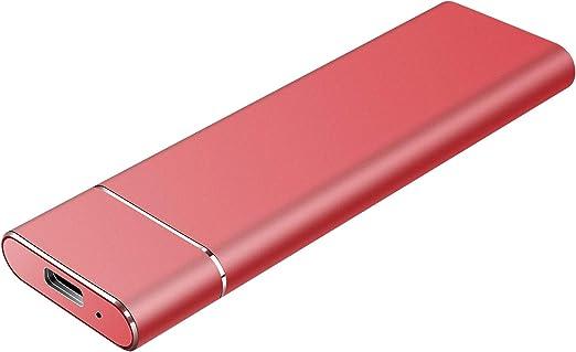 Uiita 外付けハードドライブポータブルハードドライブ外付け-超薄型ポータブルHDDタイプC外付けUSB3.1ハードドライブMacノートパソコンとPC用 1TB レッド 147896541