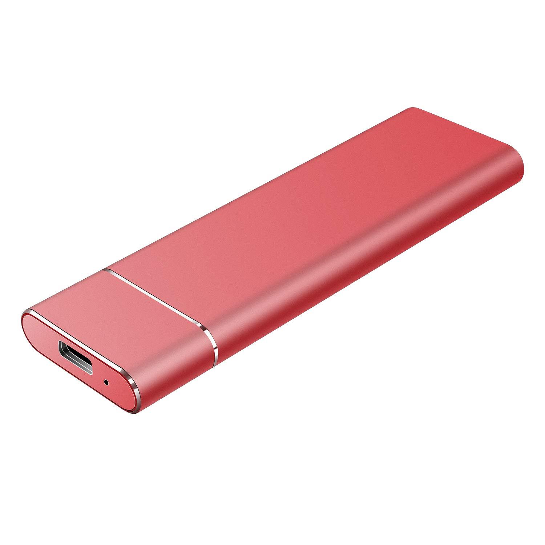 Apple Type C USB3.1 SATA HDD Almacenamiento para PC Mac Neeta Disco Duro Externo Port/átil 1TB Xbox 1 TB, Rojo Windows