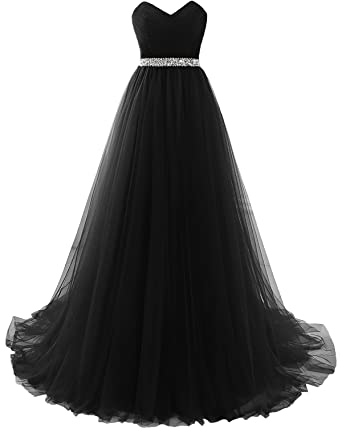 55b0053cce7 MILANO BRIDE Strapless Empire-Waist Long Prom Evening Dresses 2018  Affordable-2-Black