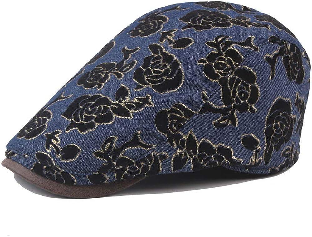 L.J.J Beret Cap Autumn Cotton Men Women Professional Embroidered Flannel Flowers Outdoor Classic Retro Sun Hat Women Hat