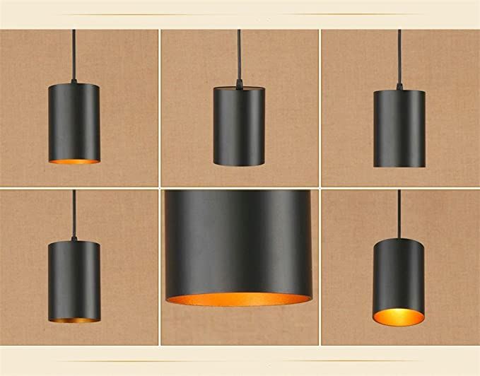 Plafoniere Vintage : E27 vintage ciondolo luci nero regolabile plafoniere industriale