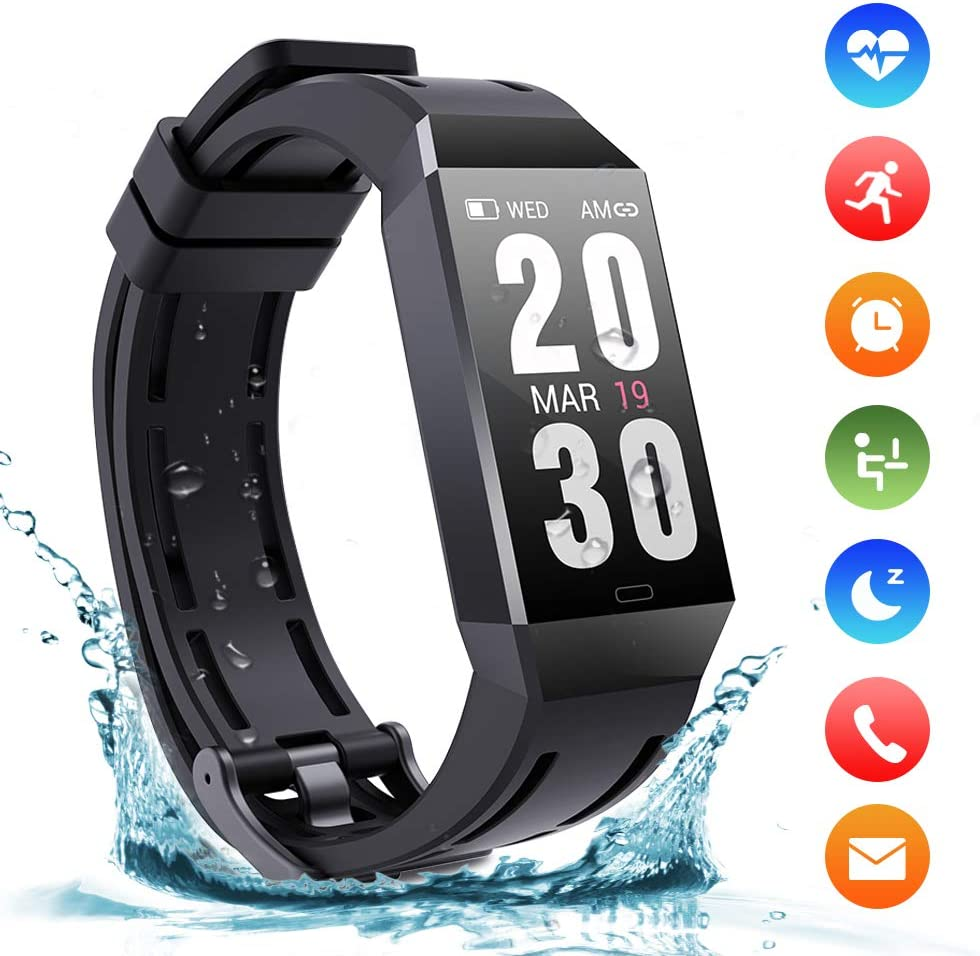 Fitness Activity Tracker Watch Bluetooth with Pedometer WAS £29.99 NOW £17.99 w/code 8CQQH6JR @ Amazon